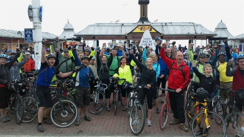 ndon to Brighton cycling tour charity