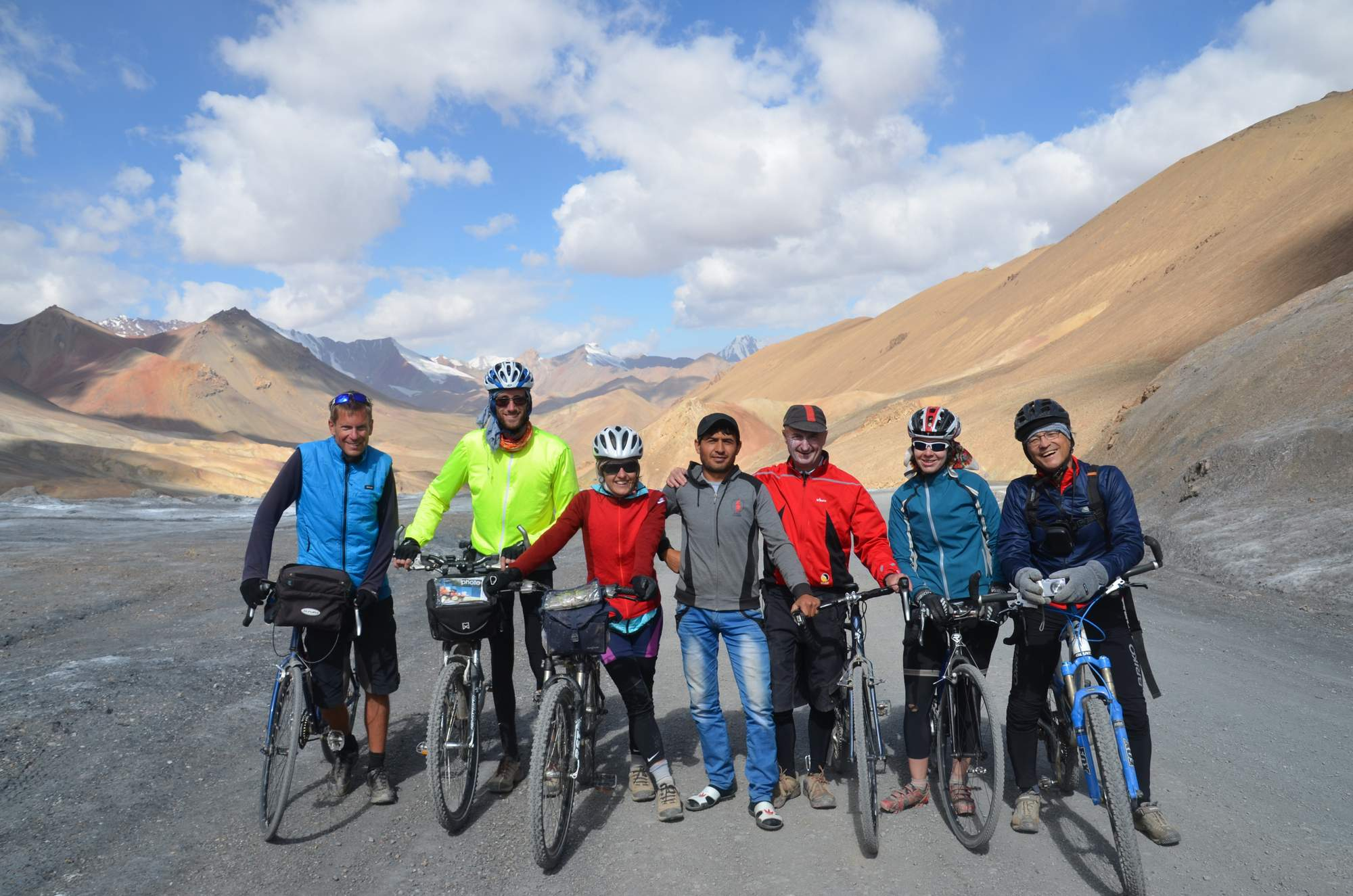guided cycling group Tajikistan