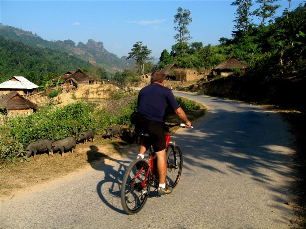 Cycling in rural Vietnam