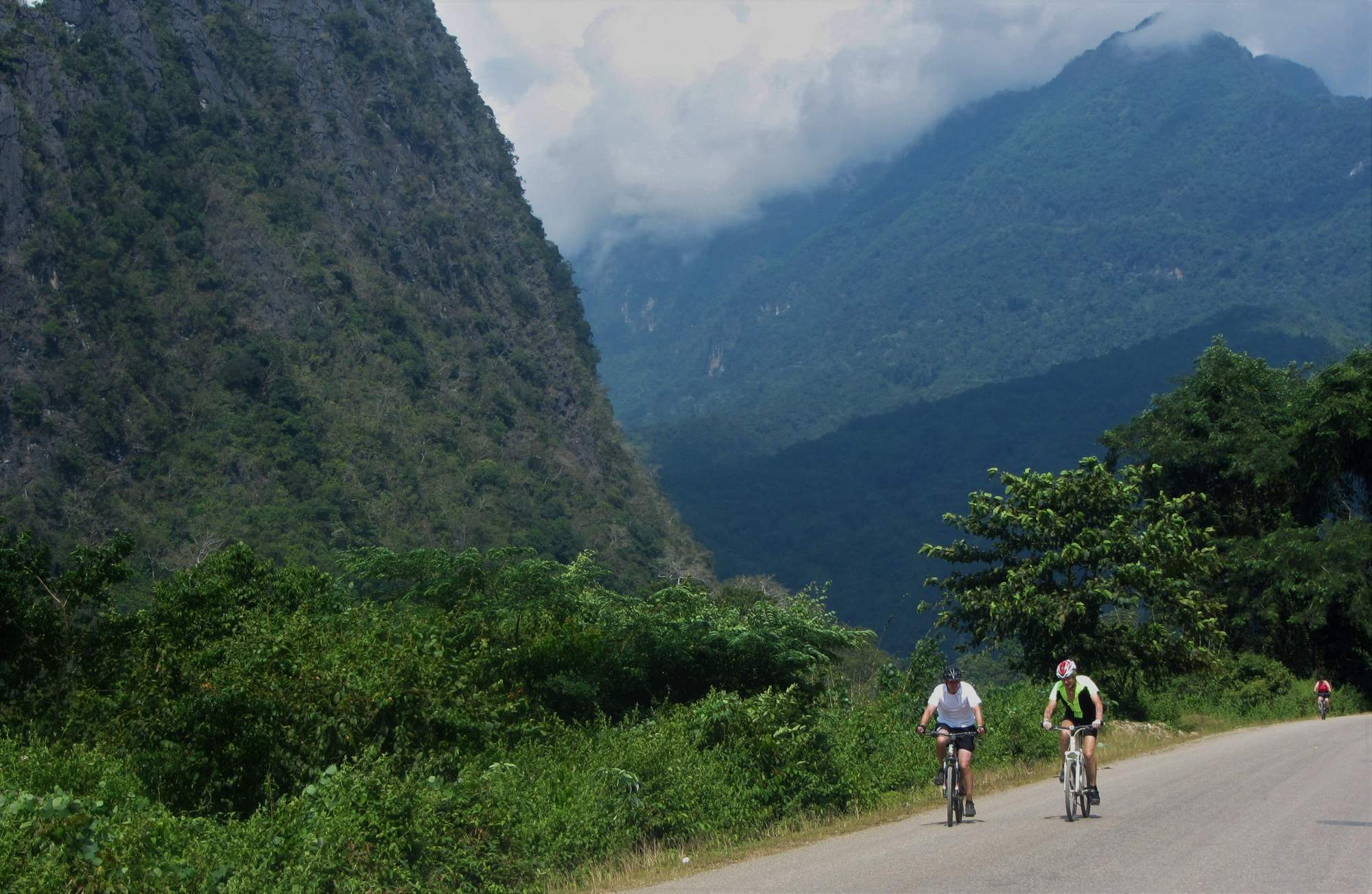 cycling rural Laos