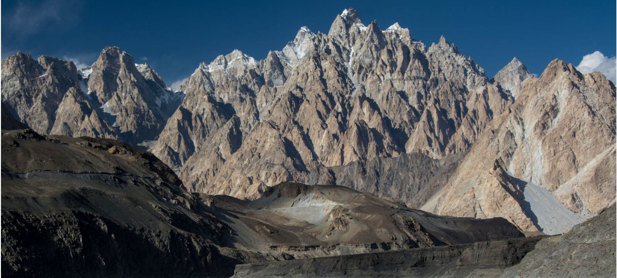 Passu cathedral mountains, Gilgit-Baltistan