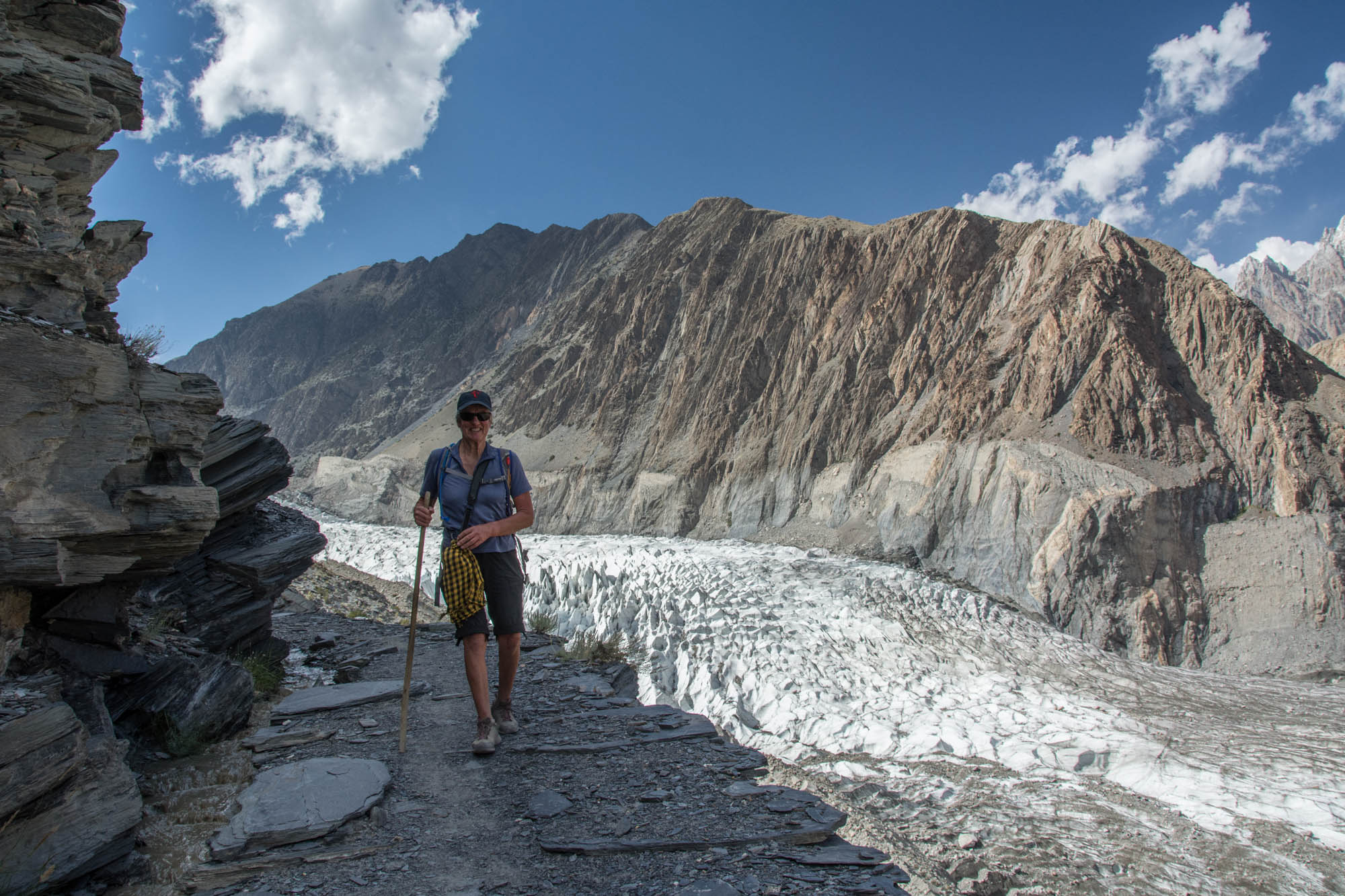 walking in Passu Karakorum Highway