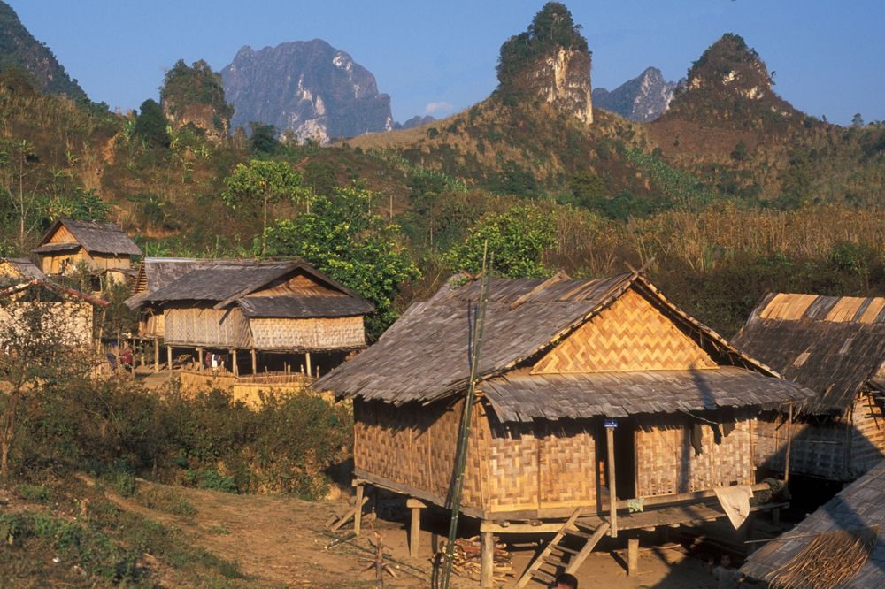 Small village Kasi in Laos