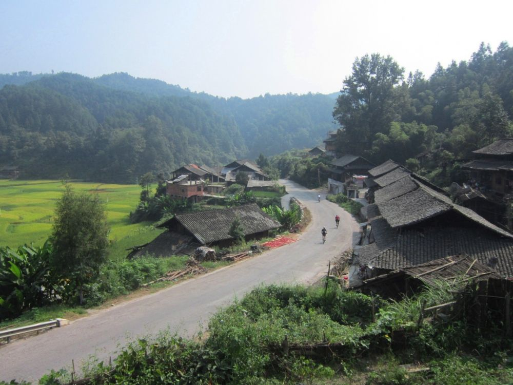 Cycling back road to Liping , Guizhou