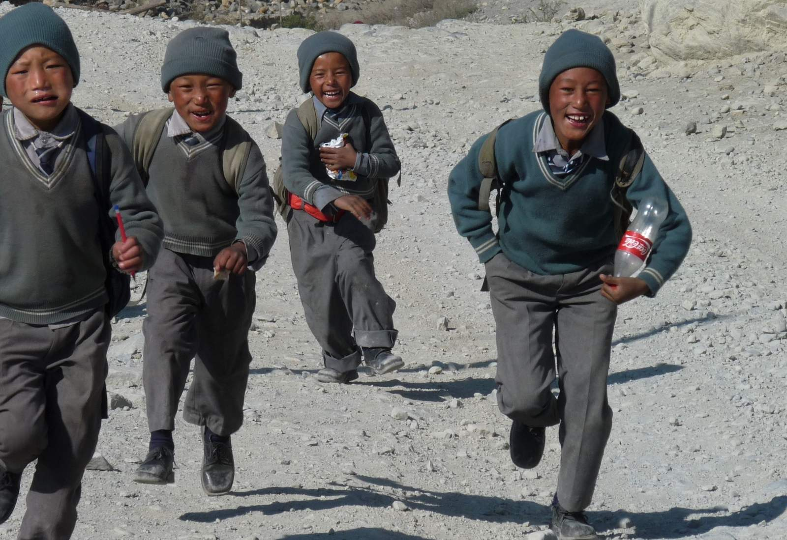Children in the high Himalaya