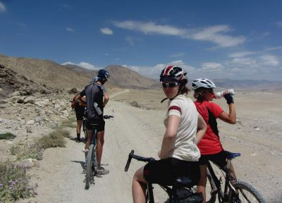 cycling towards Yashikul Lake