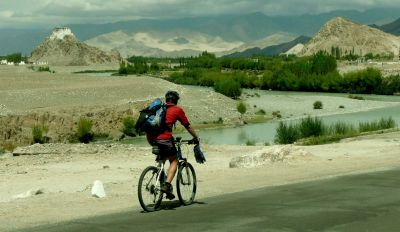 Cycling Thiksey Monastery