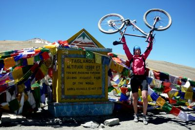 cycling Tanglangla Pass 17,582 FT