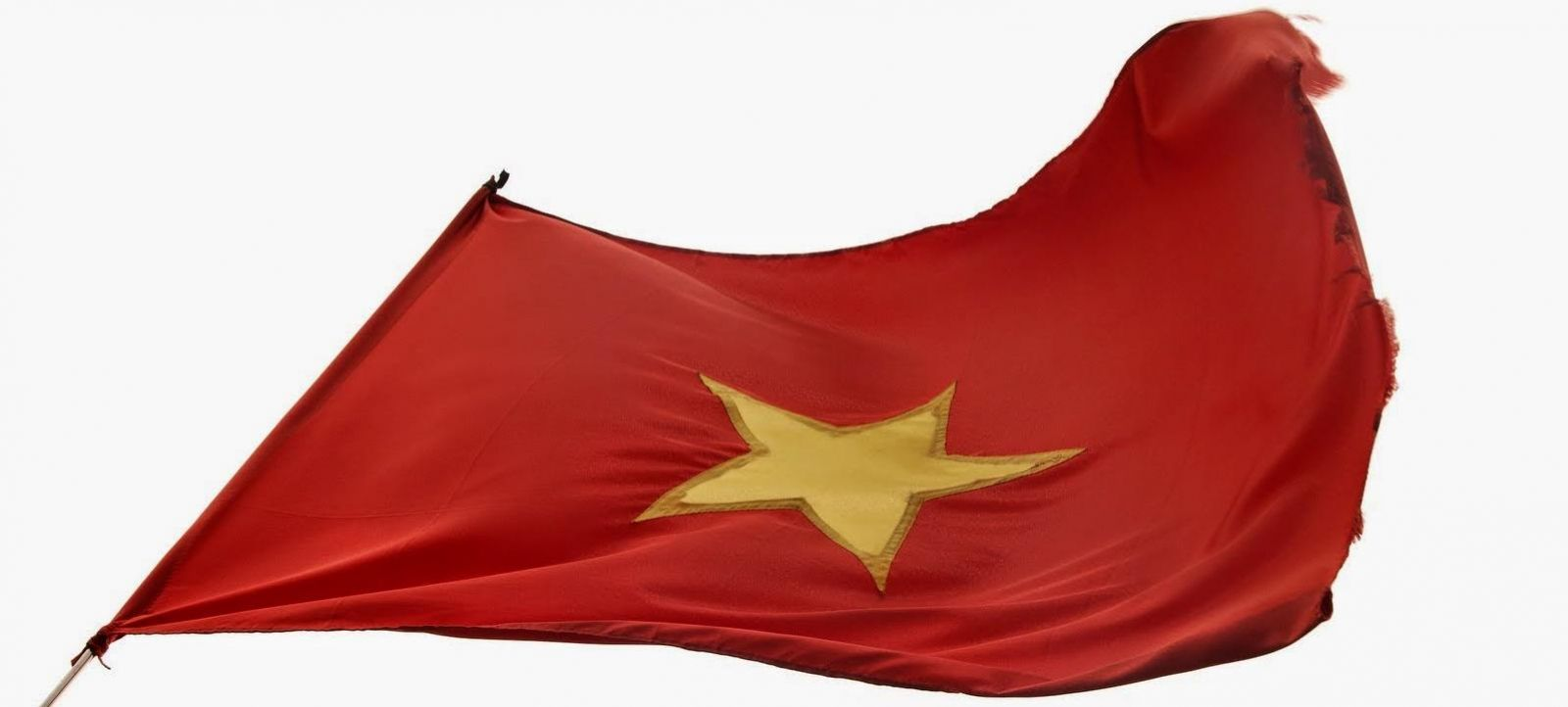 Vietnamese flag in North East Vietnam