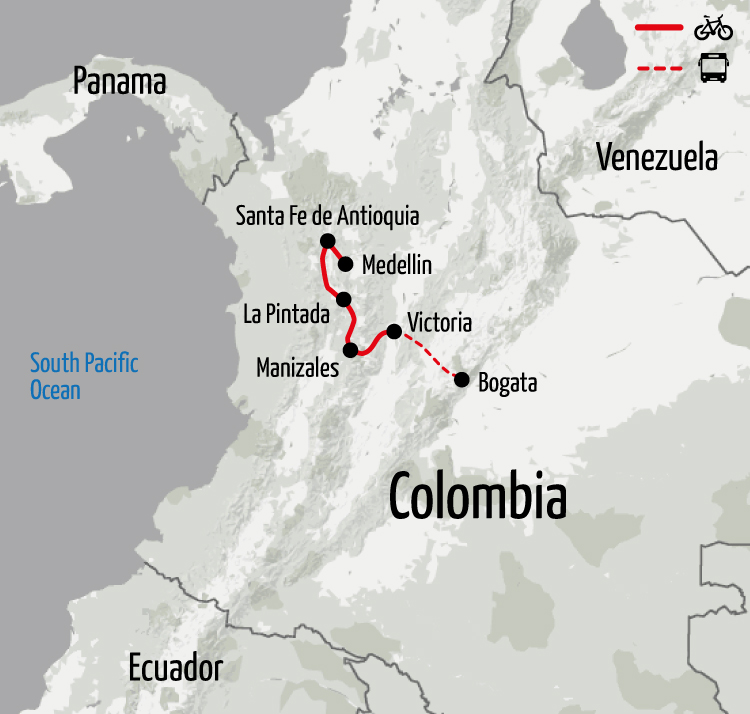 Example route for this Chile cycling holiday