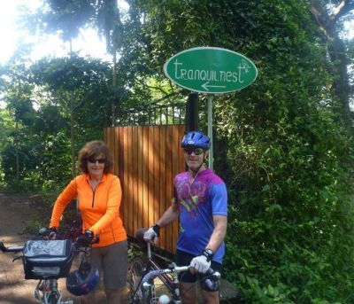 Michael and Breda Keating Cycling on the  tour with redspokes