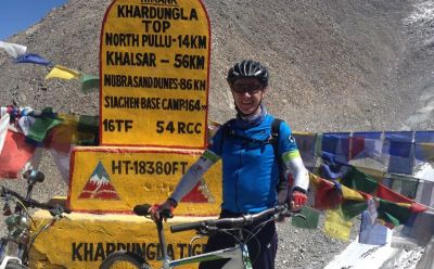 Graham Crawford Cycling on the India : Spiti - Ladakh tour with redspokes