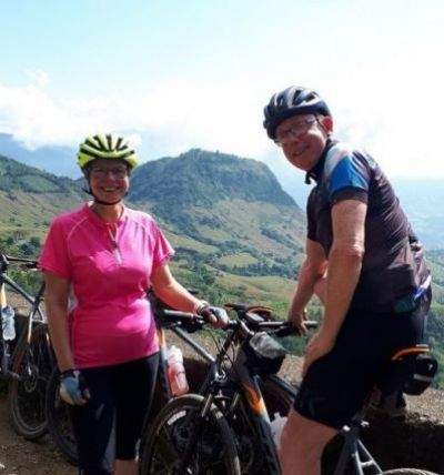 Ross Prielipp & Annette Meier Cycling on the  tour with redspokes