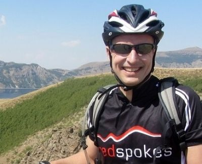 Andy Green Cycling in Turkey  with redspokes