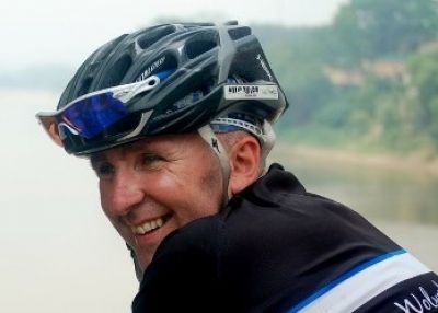 Andy Harriman Cycling on the Vietnam N.W   tour with redspokes