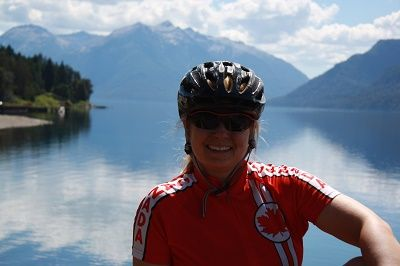 Natasha Herman Cycling on the Chile & Argentina tour with redspokes
