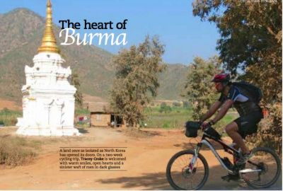 Tracey Croke Cycling on the Burma - Classic tour with redspokes