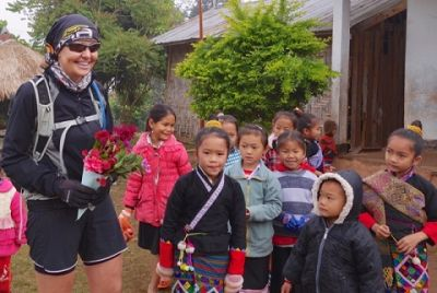 Tracey Croke Cycling on the Thailand & Laos tour with redspokes