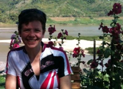 Deirdre Roche Cycling on the Thailand & Laos tour with redspokes