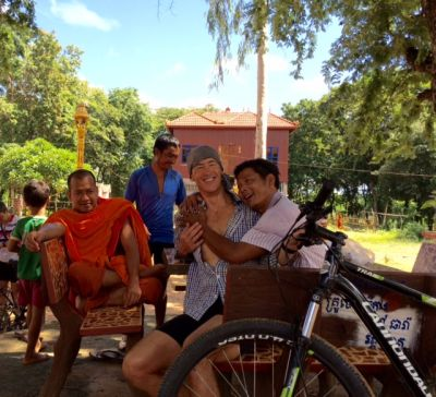 Mark Moran Cycling on the Cambodia tour with redspokes