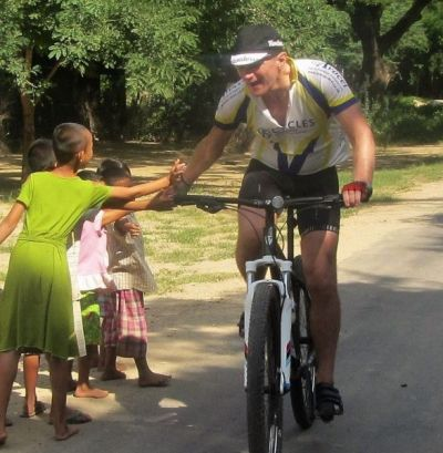 Richard Kitson Cycling on the Burma - Mountains, Beaches & Stupas tour with redspokes