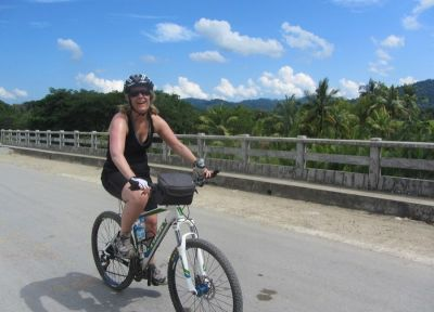 Kate Cheesman Cycling on the Burma - Mountains, Beaches & Stupas tour with redspokes