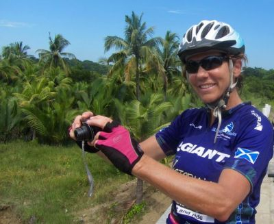 Jo Reaves Cycling on the Burma - Classic tour with redspokes