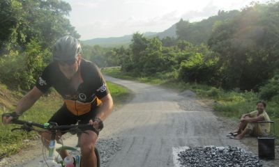 Roberto Severi Cycling on the Burma - Classic tour with redspokes