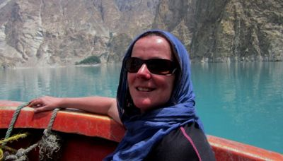 Siobhan Macauley Cycling on the Karakoram Highway to Kyrgyzstan tour with redspokes