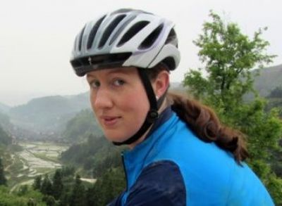 Laura Donovan Cycling on the China - South East  tour with redspokes