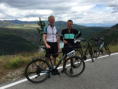 Malcolm Thoms Cycling on the Albania - North to South tour with redspokes