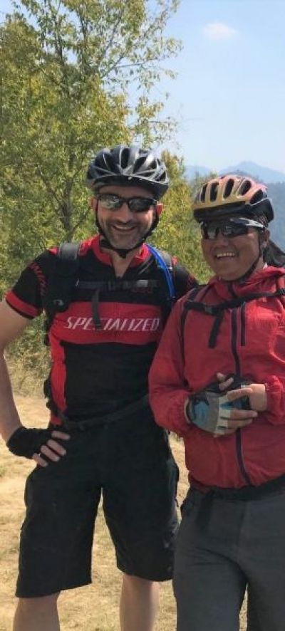 Mark Coleman Cycling on the Nepal tour with redspokes