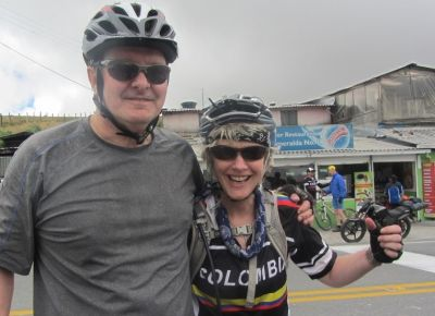 Catherine & Stuart Wyse Cycling on the  tour with redspokes