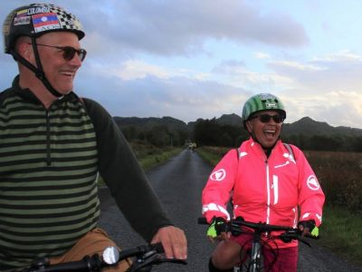 Mike & Berta Glodowski Cycling on the Scotland - Highlands and Islands tour with redspokes