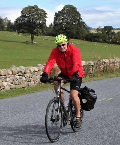 David Mercer Cycling on the Scotland - Highlands and Islands tour with redspokes