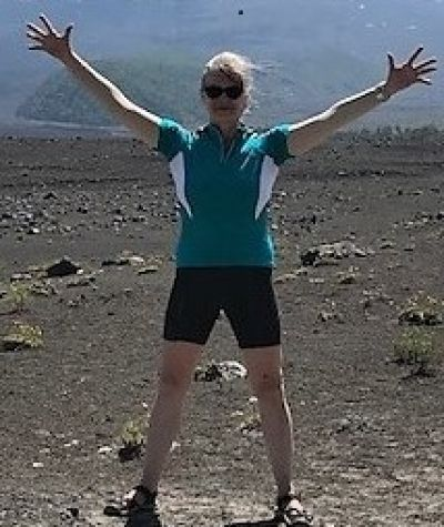 Janet Clark Cycling on the Chile & Argentina tour with redspokes