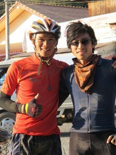 Justin Lam Cycling on the Thailand & Laos tour with redspokes