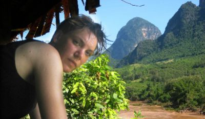 Katja Stille Cycling on the Thailand & Laos tour with redspokes