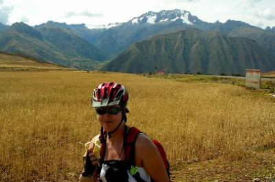 Marie Sadler Cycling on the Peru - The Andean Dream tour with redspokes