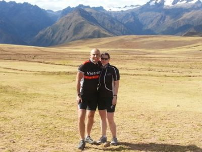 Nicola Prestage Cycling on the Peru - The Andean Dream tour with redspokes