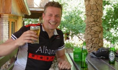 Andy Green Cycling on the Albania - Classic tour with redspokes