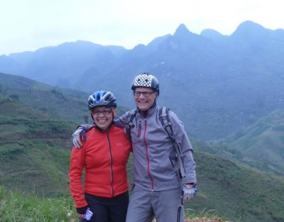 Berta & Michael Glodowski Cycling on the  tour with redspokes