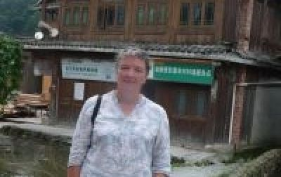Paula Roberts Cycling on the China - South East  tour with redspokes