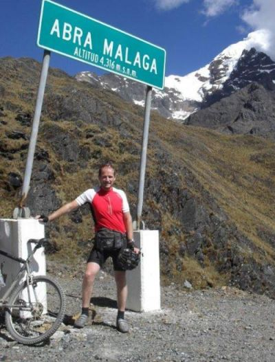 Stuart Butler Cycling on the Peru - The Andean Dream tour with redspokes