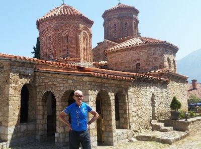 Phillip Stapleton Cycling on the Albania - North to South tour with redspokes