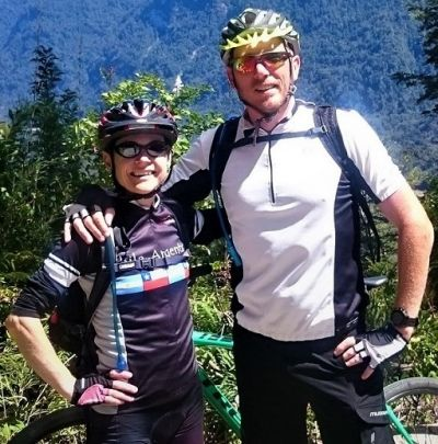 Susan Pritchard Cycling on the Chile & Argentina tour with redspokes
