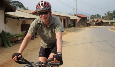 Tony Mohr Cycling on the Thailand & Laos tour with redspokes