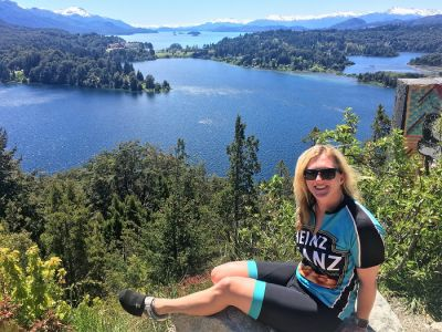Zara Thatcher Cycling on the Chile & Argentina tour with redspokes