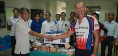 Paul Noonan Cycling on the Thailand & Laos tour with redspokes