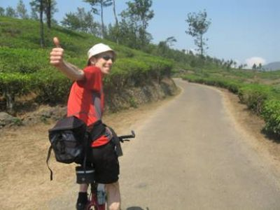Chris Ellerton Cycling on the India - Kerala tour with redspokes